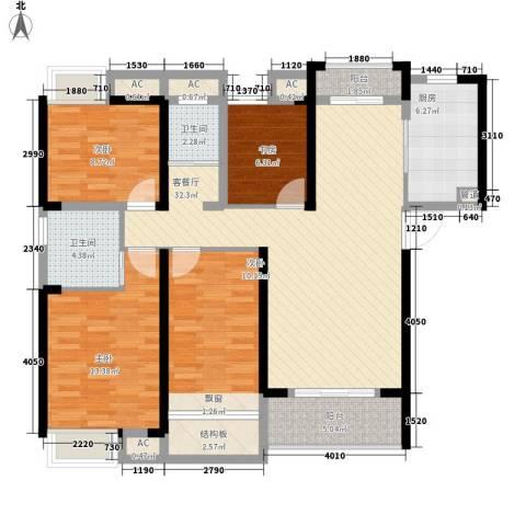 融科城4室1厅2卫1厨142.00㎡户型图