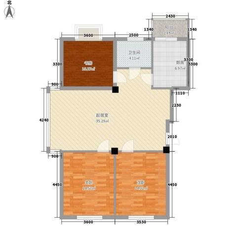 精华苑3室0厅1卫1厨133.00㎡户型图