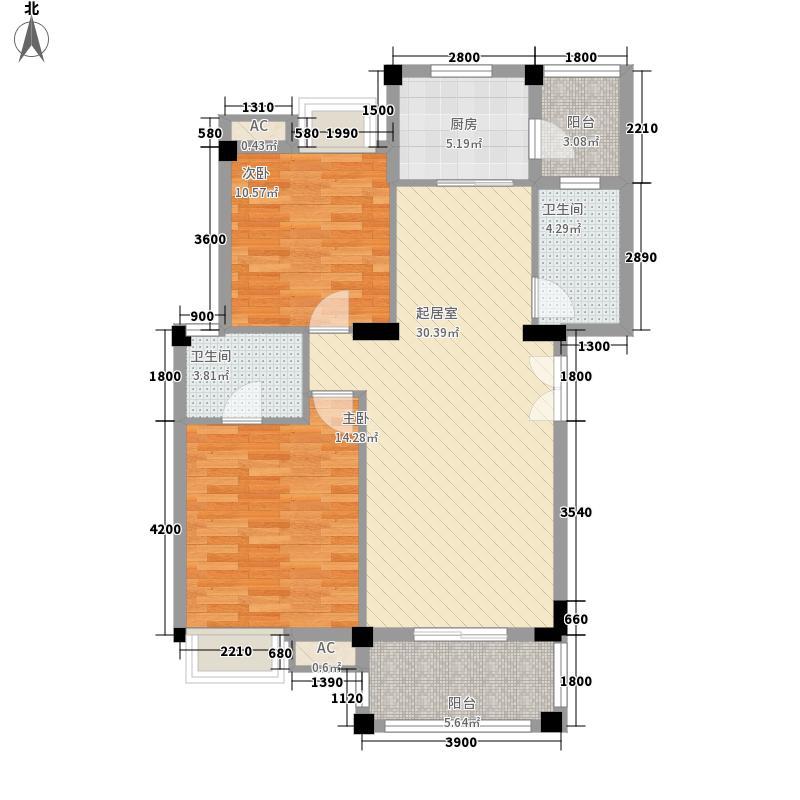 华锦春天320D标准户型2室