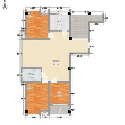 喜盈门3室0厅1卫1厨134.00㎡户型图
