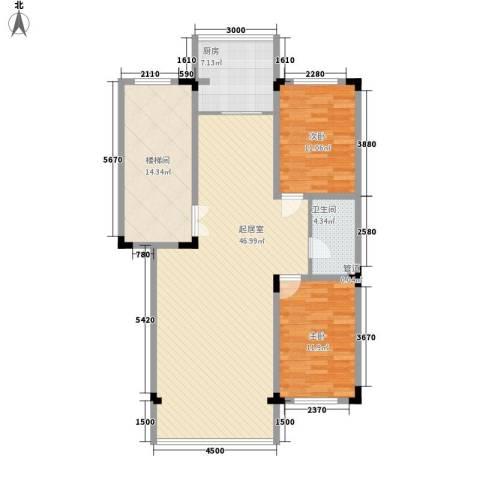 乐东小区2室0厅1卫1厨95.81㎡户型图