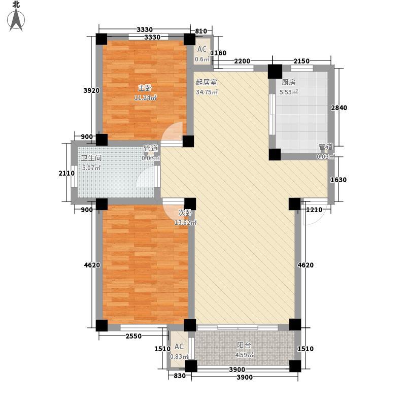 东城人家100.00㎡东城人家户型图D户型图2室2厅1卫1厨户型2室2厅1卫1厨