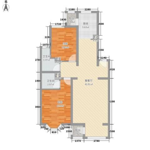 大宁山庄别墅2室1厅2卫0厨110.00㎡户型图