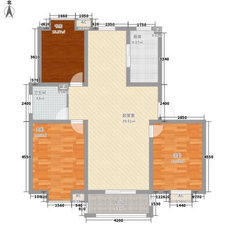 一品和�3室0厅1卫1厨111.00㎡户型图