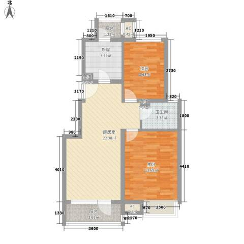 金融街・金色漫香郡2室0厅1卫1厨87.00㎡户型图