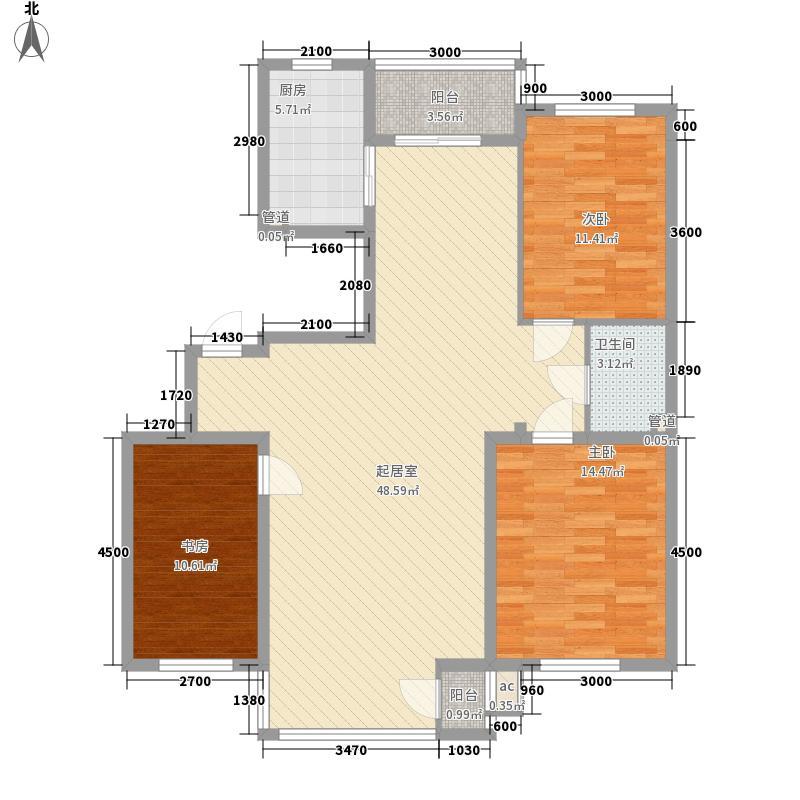 筑景新光123.74㎡筑景新光户型图3室2厅1卫户型10室