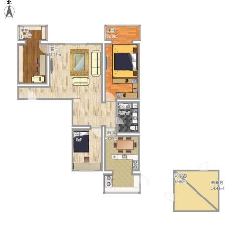 东旭小区3室1厅1卫1厨141.00㎡户型图