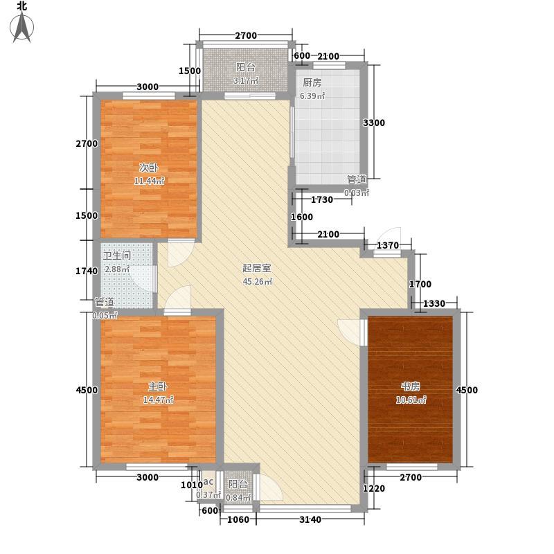 筑景新光123.10㎡筑景新光户型图3室2厅1卫户型10室