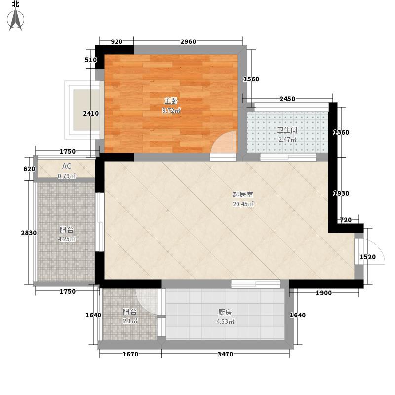 融和尊邸66.00㎡融和尊邸1室户型1室