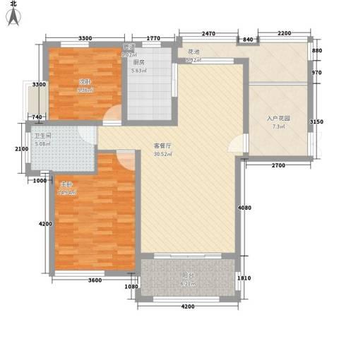 优山美地别墅2室1厅1卫1厨245.00㎡户型图
