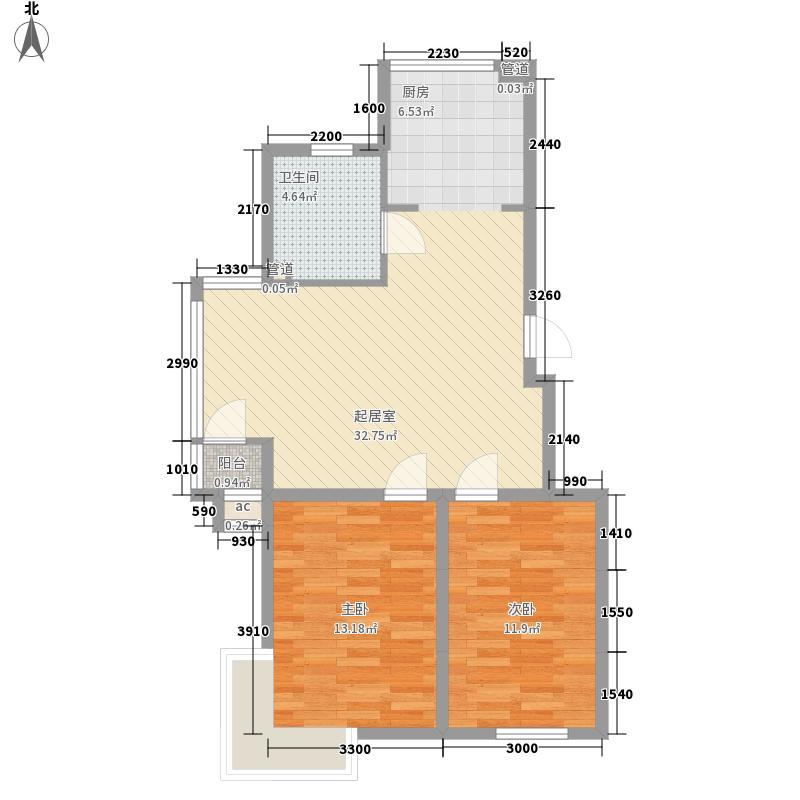 筑景新光84.50㎡筑景新光户型图2室2厅1卫户型10室