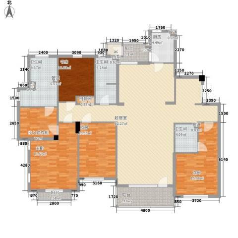 普罗旺斯4室0厅3卫1厨196.00㎡户型图