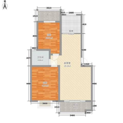金盛家园2室0厅1卫1厨103.00㎡户型图