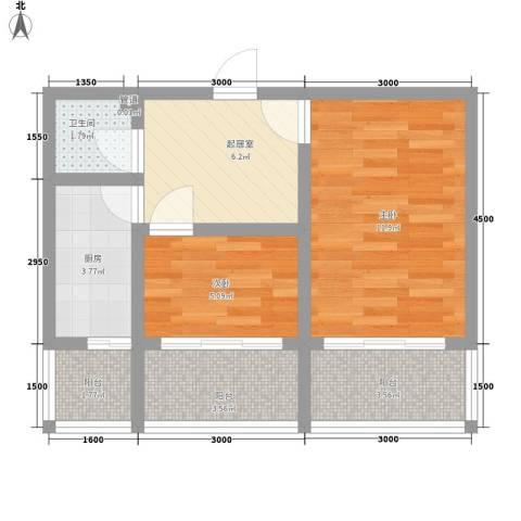 侨居小区2室0厅1卫1厨57.00㎡户型图
