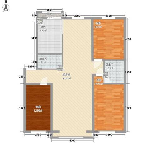 湖东小区3室0厅2卫1厨141.00㎡户型图