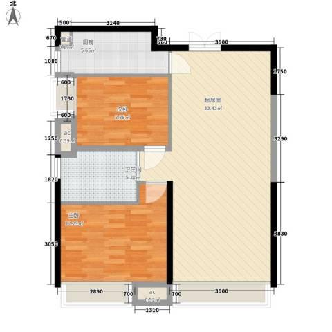 湖东小区2室0厅1卫1厨93.00㎡户型图