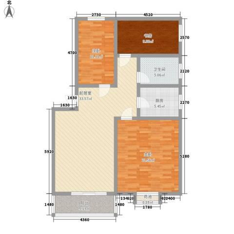 精华苑3室0厅1卫1厨132.00㎡户型图