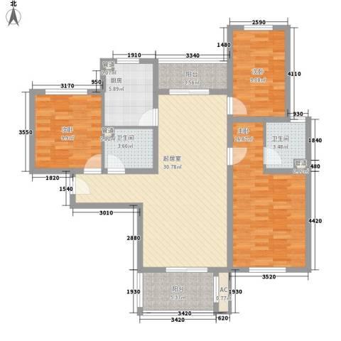 星光城3室0厅2卫1厨128.00㎡户型图