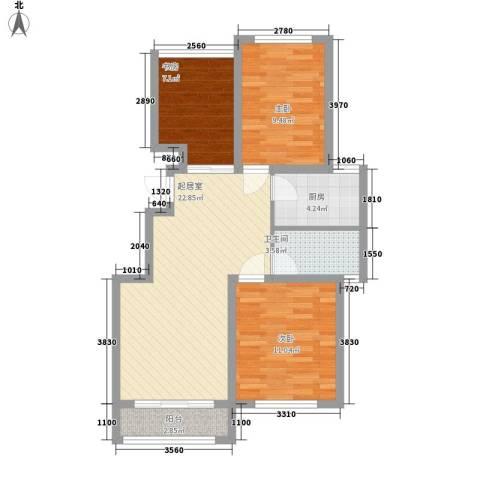 中惠爱丁堡3室0厅1卫1厨88.00㎡户型图