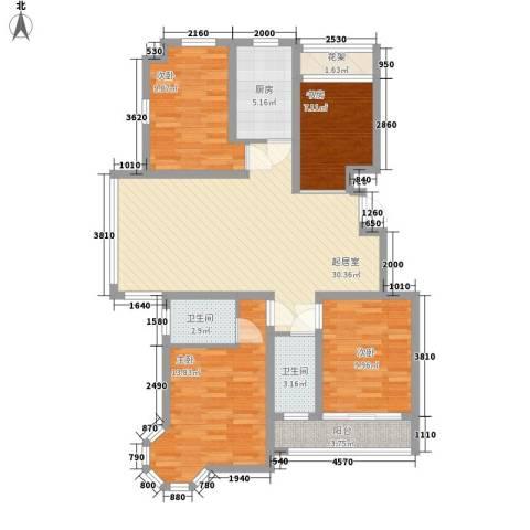 中惠爱丁堡4室0厅2卫1厨126.00㎡户型图