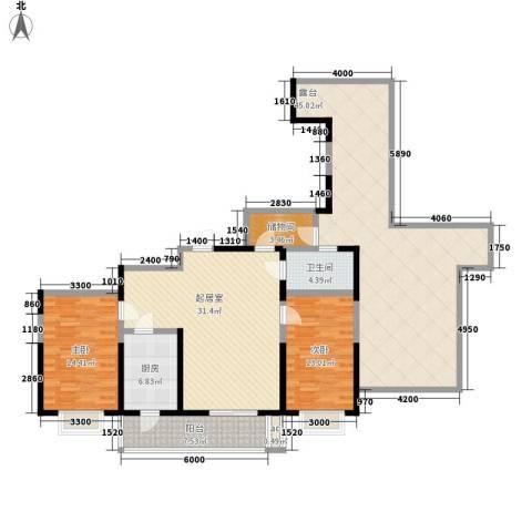 虹畔馨苑2室0厅1卫1厨178.00㎡户型图