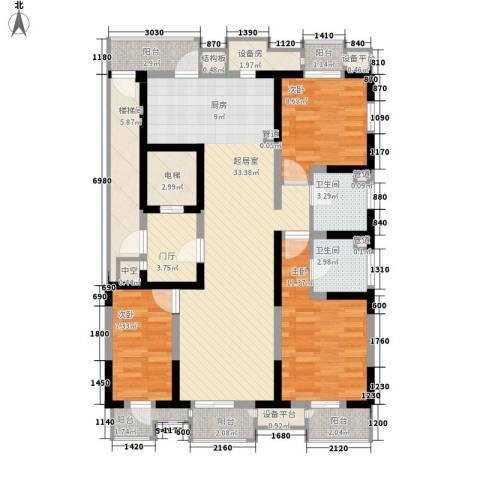 藏品�山湾3室0厅2卫0厨140.00㎡户型图