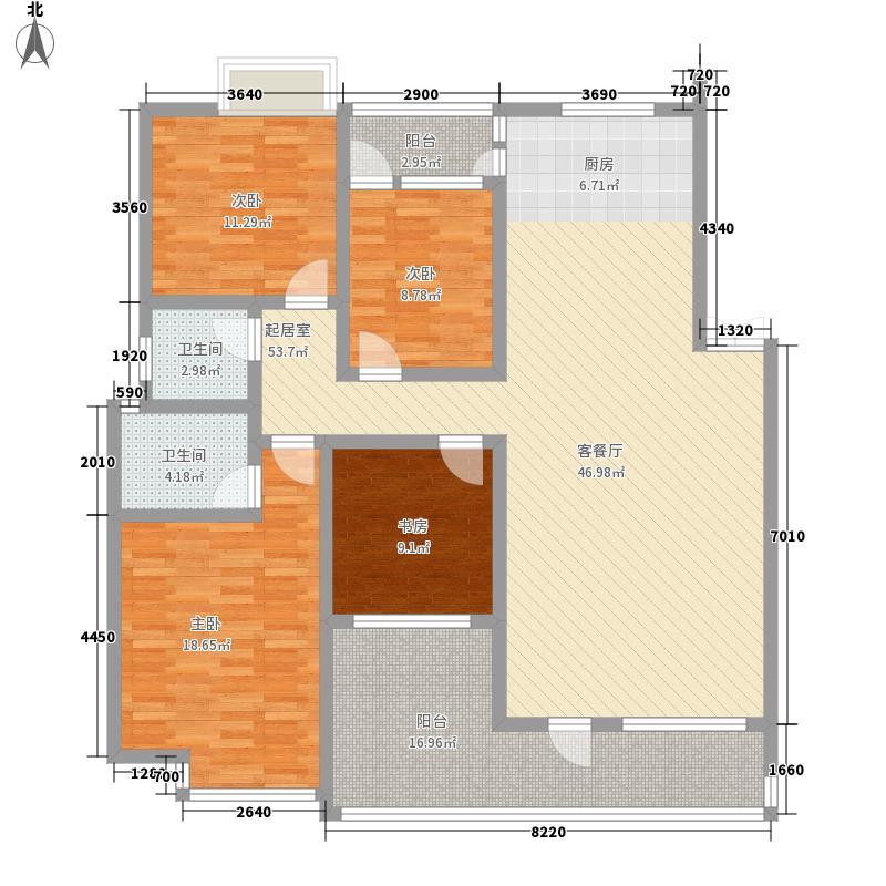 金色丽景149.00㎡金色丽景4室户型4室