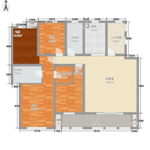 华润中央公园3室0厅2卫1厨181.00㎡户型图