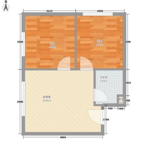 东方新村2室0厅1卫0厨54.00㎡户型图