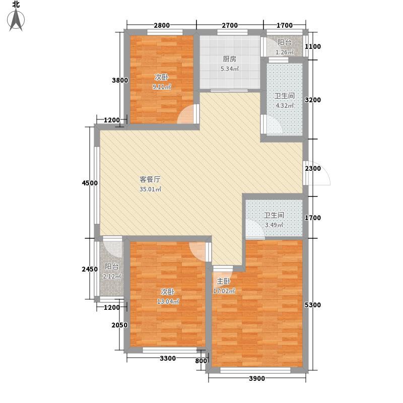 金色欧城114.80㎡G户型3室2厅2卫