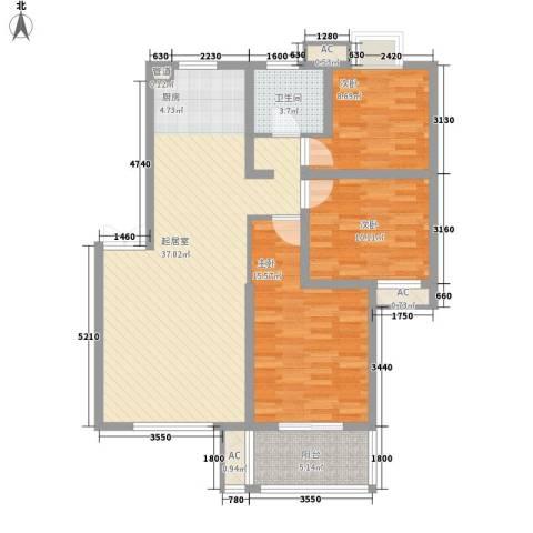四季新城金典3室0厅1卫0厨119.00㎡户型图