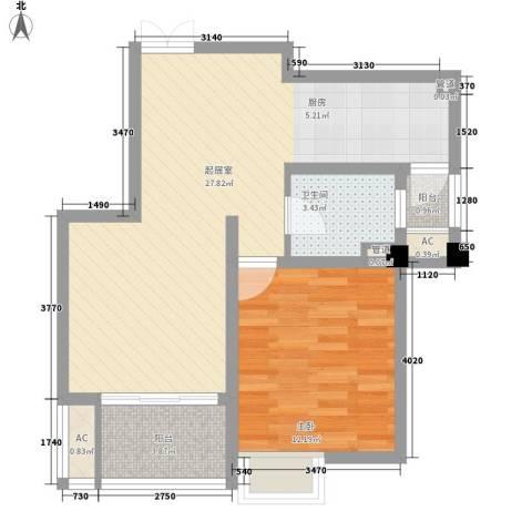 四季新城金典1室0厅1卫0厨73.00㎡户型图