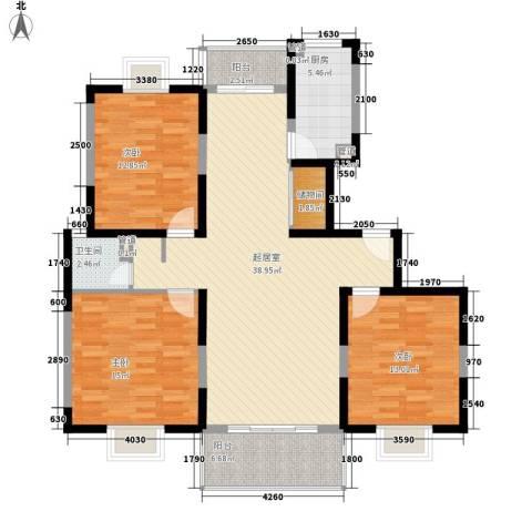 高行家园3室0厅1卫1厨129.00㎡户型图