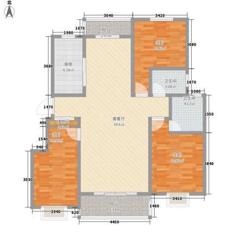 尚苑壹品3室1厅2卫1厨139.00㎡户型图