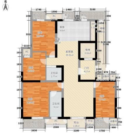 藏品�山湾4室0厅2卫0厨165.00㎡户型图