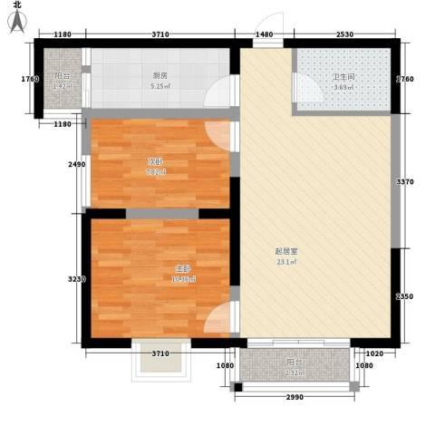 西盟公社2室0厅1卫1厨78.00㎡户型图