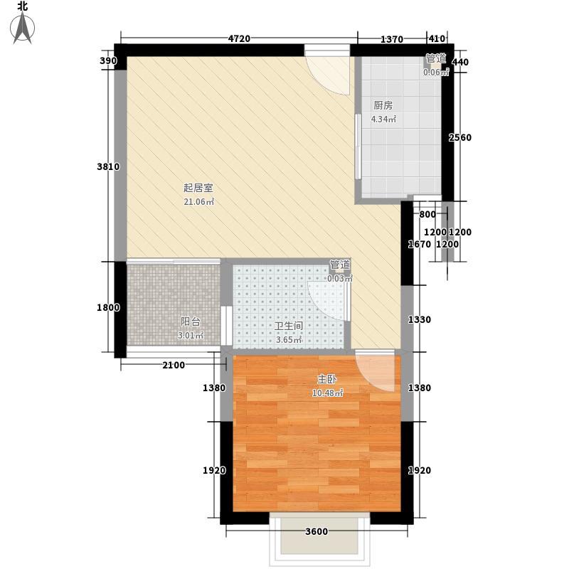 纺织新村 1室 户型图
