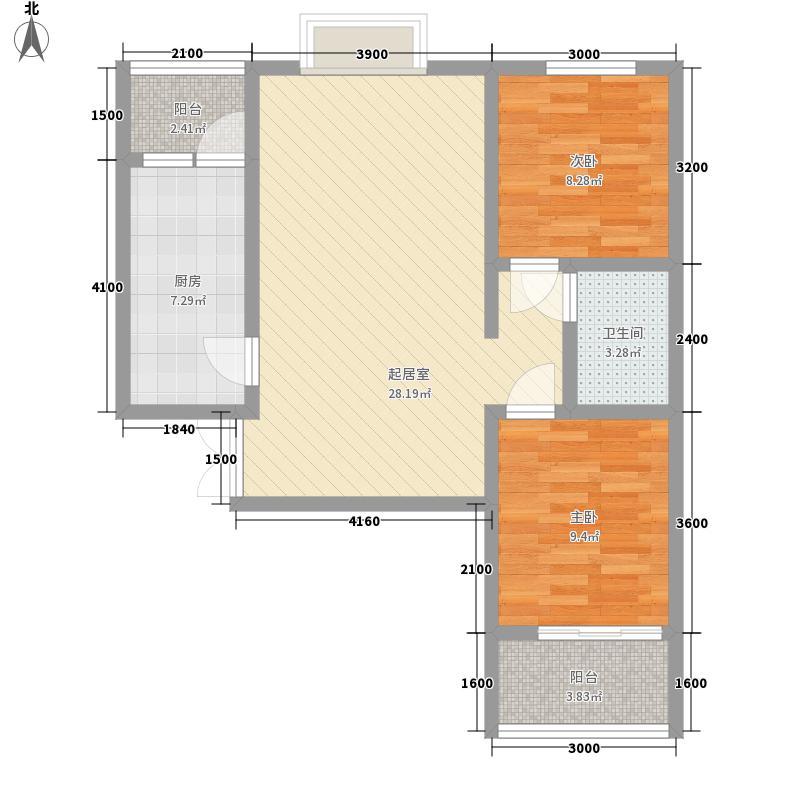 清枫华景清枫华景户型图B1户型2室1厅1卫1厨户型2室1厅1卫1厨