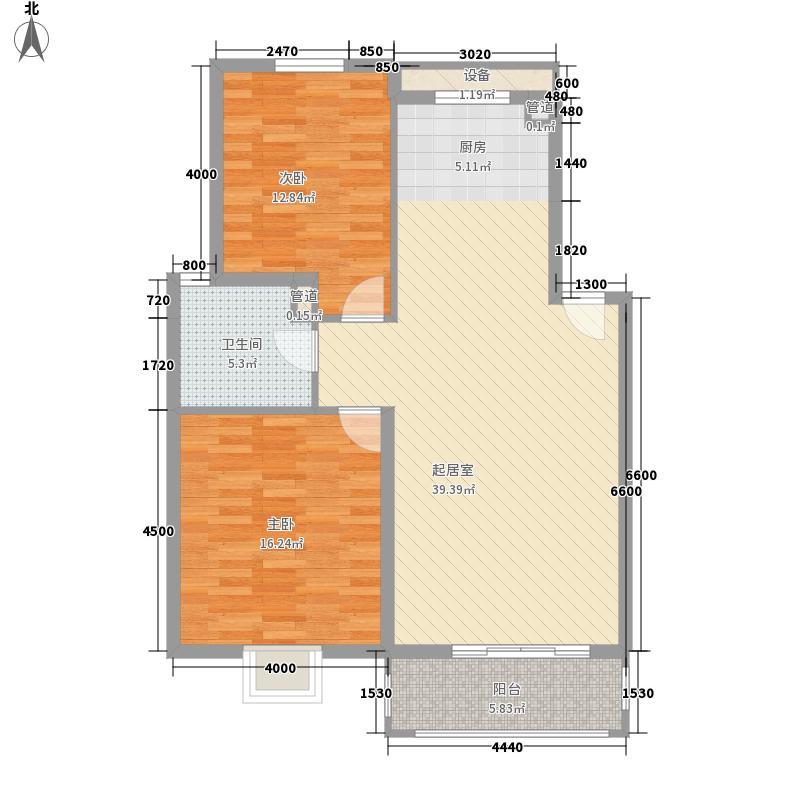 凯文和平雅苑2室户型2室2厅1卫1厨