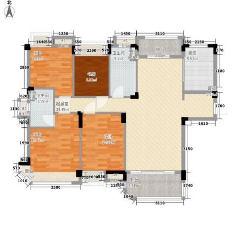 南通碧桂园4室0厅2卫1厨138.00㎡户型图