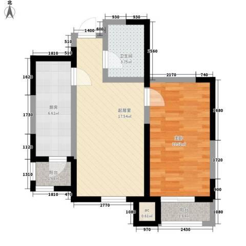 心源家园1室0厅1卫1厨45.55㎡户型图