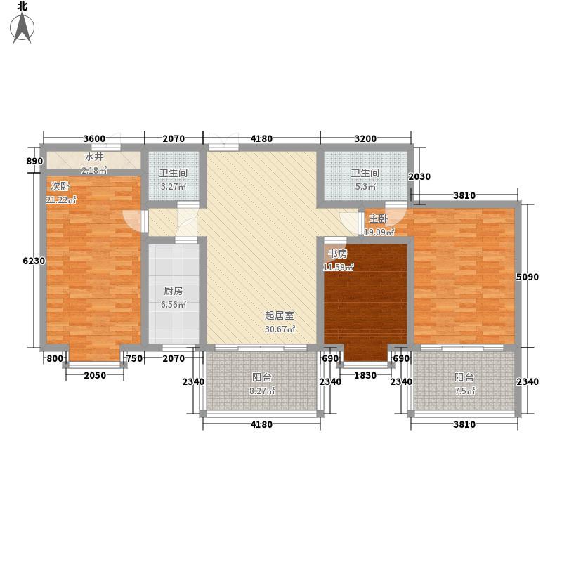 花样年华158.80㎡3号房户型3室2厅2卫1厨