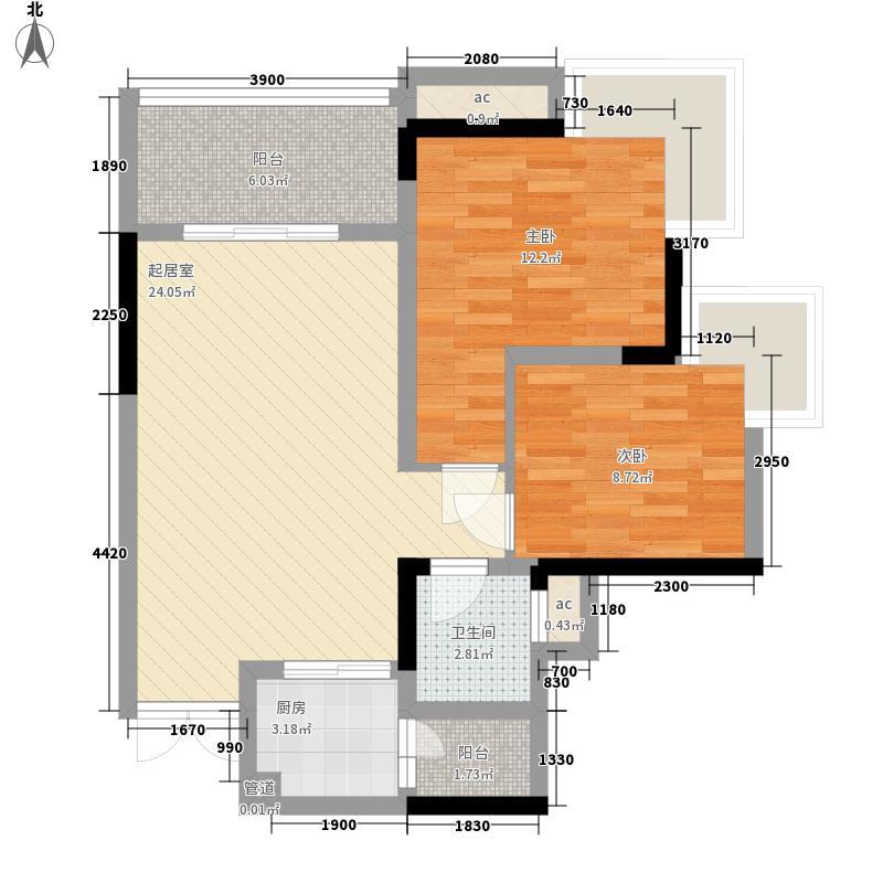 导航小区2居户型2室2厅1卫1厨