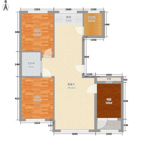 华恒南山公馆3室1厅1卫0厨114.00㎡户型图