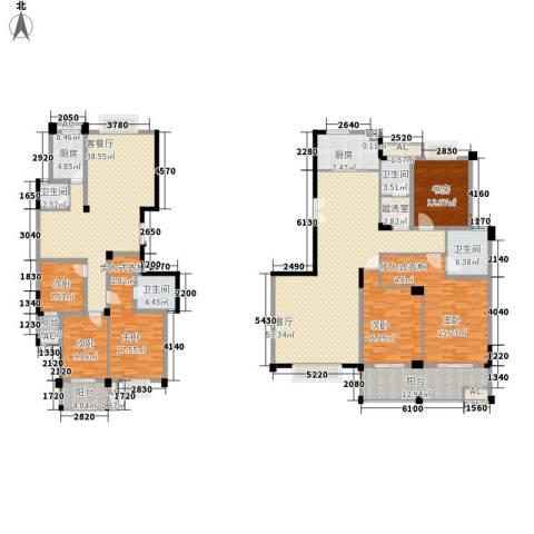 中江国际花城6室2厅4卫2厨334.00㎡户型图