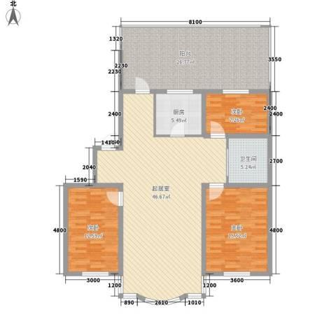 柳湖绿园3室0厅1卫1厨132.24㎡户型图