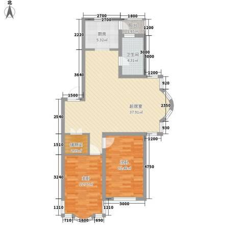 柳湖绿园2室0厅1卫0厨80.38㎡户型图