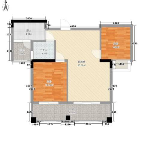 版纳一品2室0厅1卫1厨91.00㎡户型图