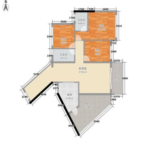 版纳一品3室0厅2卫1厨154.00㎡户型图