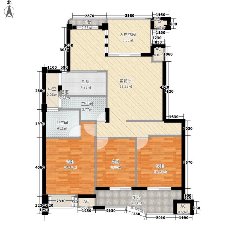 尚层建筑户型图3室2厅1卫1厨